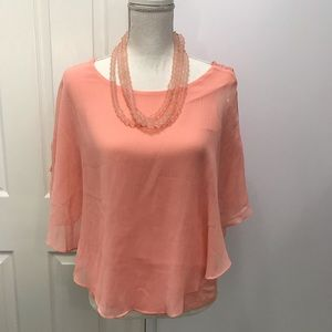 Apt. 9, NWT, size S, Peach Colored Blouse.